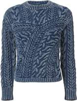 Exclusive for Intermix Willow Patchwork Denim Sweater
