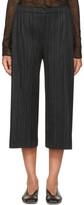 Pleats Please Issey Miyake Black Pleated Trousers