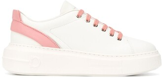 Salvatore Ferragamo Gancini lace-up sneakers