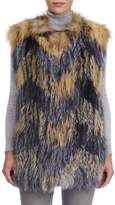 Gorski Cross Fox and Silver Fox Fur Vest