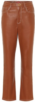 STAUD Eli high-rise faux leather pants