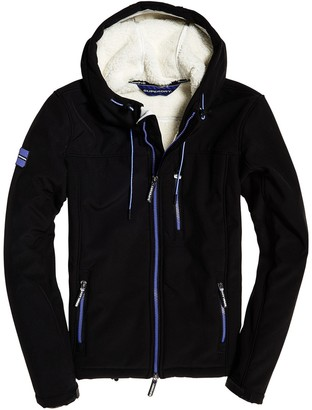Superdry Winter Hooded Windbreaker with Faux Fur Lining and Pockets