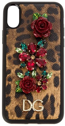 Dolce & Gabbana embellished iPhone case