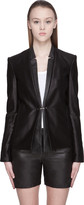 J Brand Ready To Wear Black Hilary Textured Cotton Leather-trimmed Jacket
