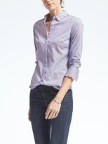 Banana Republic Riley-Fit Stripe Scallop Shirt
