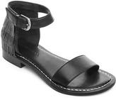 Bernardo Taci Beaded Fringe Ankle Strap Sandals