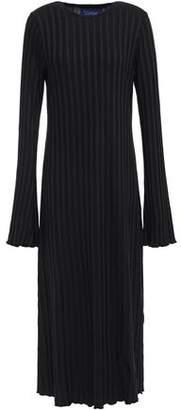 Simon Miller Ribbed Stretch Micro Modal Jersey Midi Dress