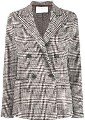 Harris Wharf London checked double-breasted blazer