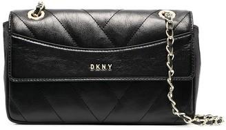 DKNY Grained Calf Leather Shoulder Bag