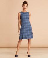 Brooks Brothers Tartan Wool Shift Dress