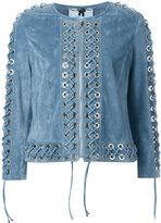 Blumarine - lace-up jacket - women -