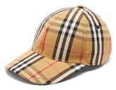Burberry Vintage-check Cotton Baseball Cap - Mens - Tan Multi