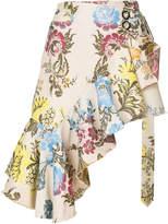 Marques Almeida Marques'almeida floral pattern asymmetric skirt