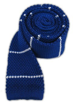 Tie Bar Knit Stripe Royal Tie