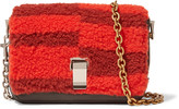 Proenza Schouler Courier extra small shearling and leather shoulder bag