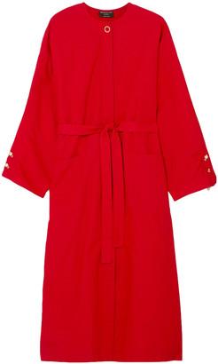Mother of Pearl Mireya Tie-front Embellished Cotton-poplin Midi Dress