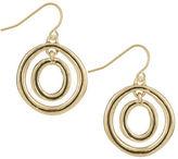 The Sak Goldtone Ribbed Orbit Earrings