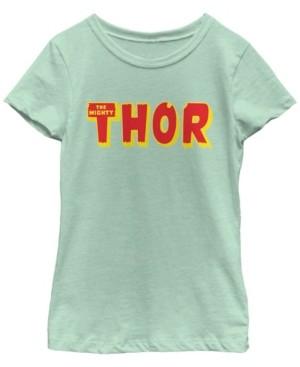 Fifth Sun Marvel Big Girl's Classic The Mighty Thor Short Sleeve T-Shirt