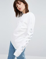 Vans Crew Neck Sweatshirt With Holographic Checkerboard Sleeve
