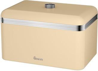Swan Retro Bread Bin - Cream