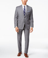 MICHAEL Michael Kors Men's Classic-Fit Gray Double Windowpane Suit