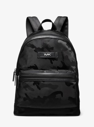 Michael Kors Camouflage Nylon Jacquard Backpack