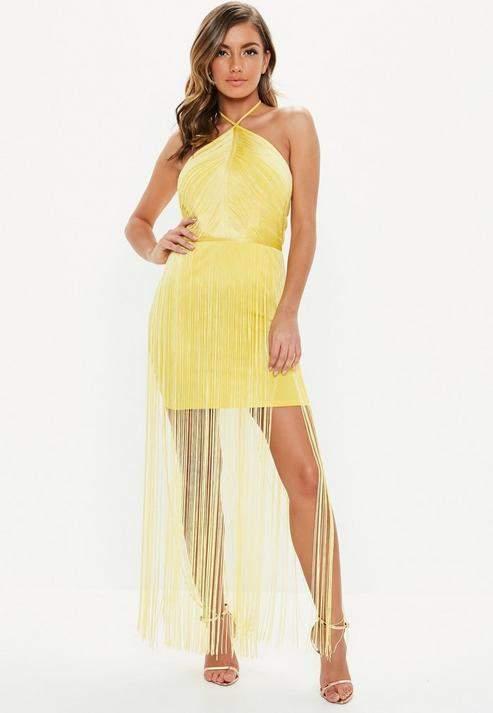 f283c0631649f Yellow Bodycon Dresses - ShopStyle