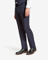 Ted Baker Wool Suit Trousers Mid Blue