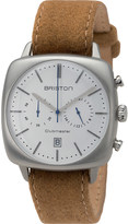 Briston 16140.S.V.2.LFCA Clubmaster Vintage stainless steel and leather watch