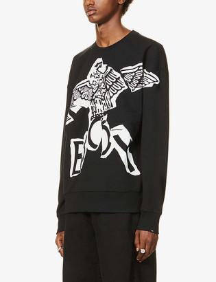Boy London Eagle logo-print cotton-jersey sweatshirt