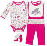 Baby Gear Animal Bodysuit Set - Baby Girl