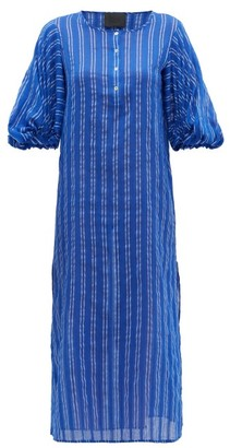 Binetti Love Stir It Up Striped Cotton Dress - Womens - Blue