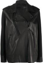 FEDERICA TOSI loose-fit biker jacket