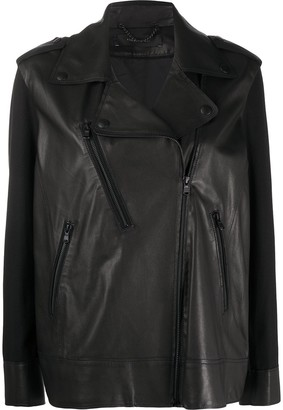 FEDERICA TOSI Loose-Fit Biker Jacket