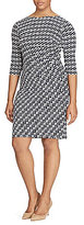 Lauren Ralph Lauren Plus Geometric Printed Jersey Dress