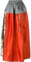 Vivienne Westwood panelled maxi skirt - women - Silk/Cotton/Linen/Flax - 40