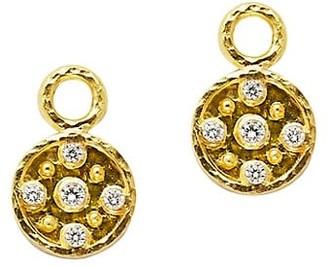 Elizabeth Locke 19K Yellow Gold & Diamond Disk Earring Charms