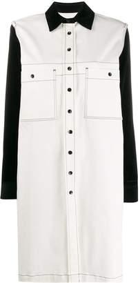 YMC colour block shirt dress