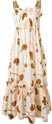 Lee Mathews Tiered Frill Maxi Dress