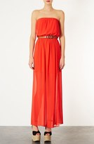 Topshop Chiffon Maxi Dress
