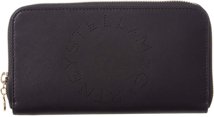 Stella McCartney Perforated Logo Zip Around Wallet