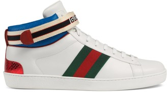 Gucci Men's Ace stripe high-top sneaker