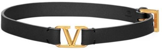 Valentino VLogo Double Leather Bracelet