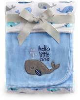 Just Born 2-pack Thermal Whale Swaddle Blankets