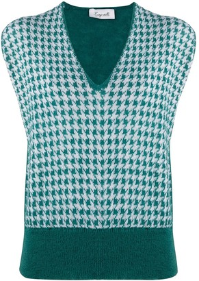 Brag Wette Houndstooth-Knit Sleeveless Jumper