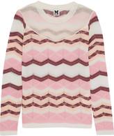 M Missoni Paneled crochet-knit top