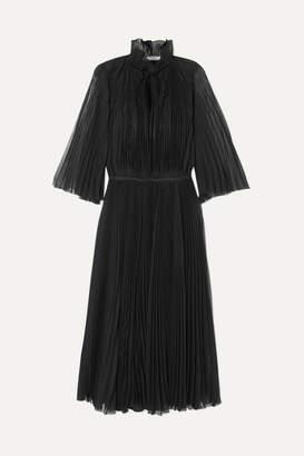 Prada Plisse-georgette Midi Dress - Black