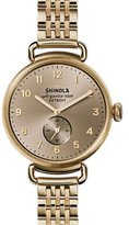 Shinola The Canfield Bracelet Strap Watch, Golden