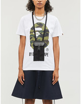 Selfridges Bape Camouflage brand-print cotton-jersey T-shirt