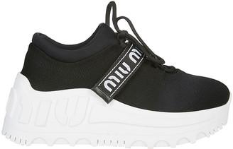 Miu Miu Logo Strap Sneakers